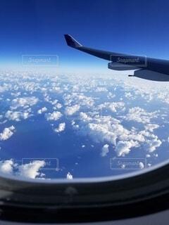 空,屋外,雲,飛行機,窓,航空機