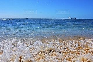 自然,風景,海,空,夏,屋外,砂,ビーチ,青,水面,水飛沫,フォトジェニック