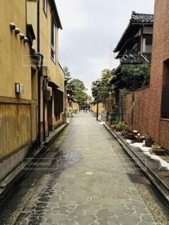 風景,空,建物,屋外,家,都会,道,旅行,金沢,町,歴史,通り,整列,まっすぐ,石川