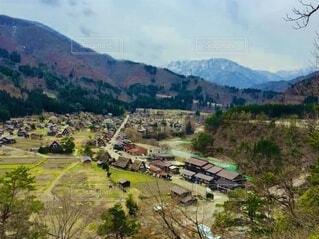 山間の村の写真・画像素材[4796413]