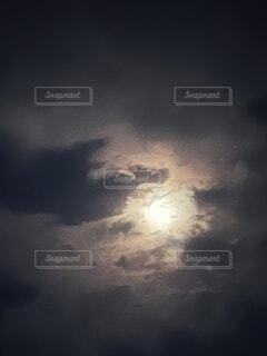 自然,風景,空,夜,夜空,屋外,雲,暗い,光,月,くもり