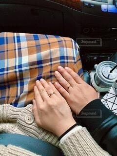 カップル,手,指輪,人物,人,ドライブ,ペアリング,エモい