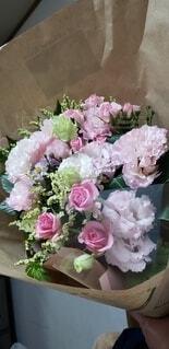 花,ピンク,花束,バラ,結婚式,薔薇,お祝い,草木,ピンクの花束