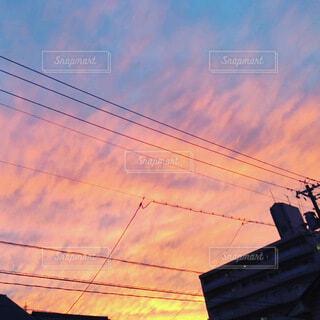 風景,空,夕日,カメラ女子,屋外,雲,夕暮れ,写真好き,空の写真