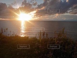 自然,空,屋外,湖,太陽,ビーチ,雲,夕暮れ,水面