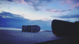 夕暮れ,スケートボード