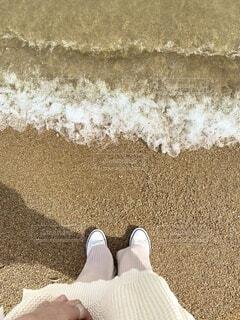 海,屋外,砂,ビーチ,キラキラ,履物,淡色