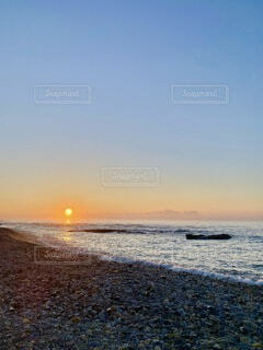 自然,風景,海,空,屋外,太陽,ビーチ,夕暮れ,水面,日の出