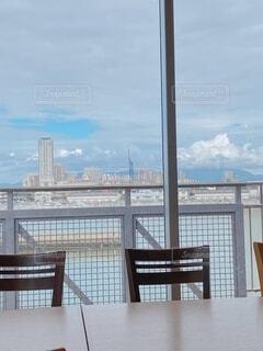 空,雲,船,椅子,高層ビル,家具