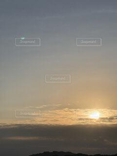 自然,空,屋外,太陽,雲,水面,月,日の出