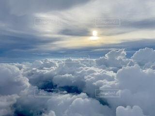 自然,空,屋外,雲,青,飛行機,飛ぶ