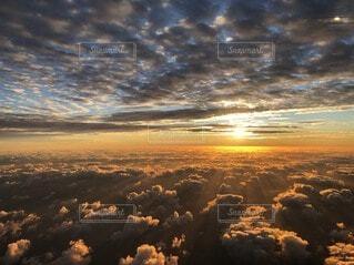 自然,空,太陽,雲,夕暮れ,飛行機