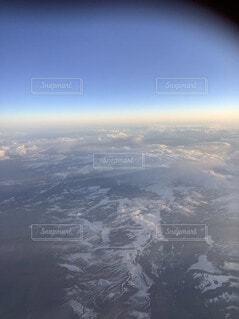 自然,空,雪,屋外,雲,飛行機,窓,飛ぶ,空中,航空機,地球,フライト
