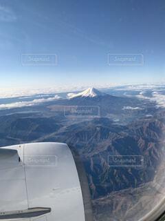 自然,空,富士山,雪,屋外,雲,飛行機,山,景色,日本,空中,航空機,覆う
