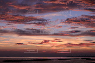自然,風景,空,屋外,太陽,ビーチ,雲,夕暮れ,水面,残光