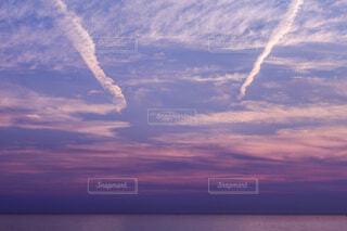 自然,風景,空,屋外,ビーチ,雲,飛行機,水面,飛ぶ,夕やけ