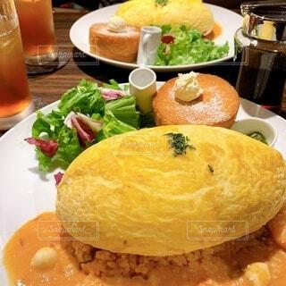 食べ物,パンケーキ,ランチ,オムライス