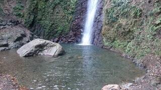 自然,屋外,水面,滝,岩,地面