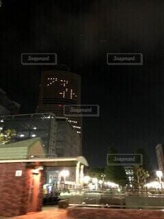 空,建物,夜,タワー,高層ビル,明るい
