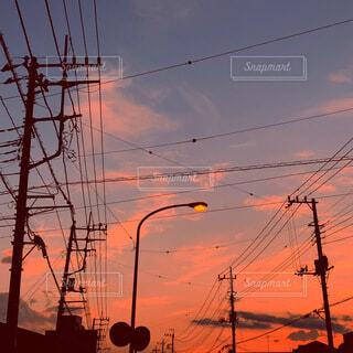 空,屋外,雲,夕暮れ,明るい,ピンク色