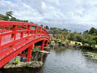 風景,空,橋,綺麗,池