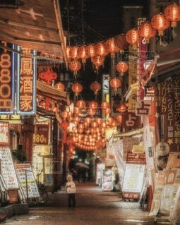 建物,ショップ,ランタン,提灯,市場,赤ちゃん,横浜,夏休み,男の子,みなとみらい,肉まん,中華街,テキスト,ストア