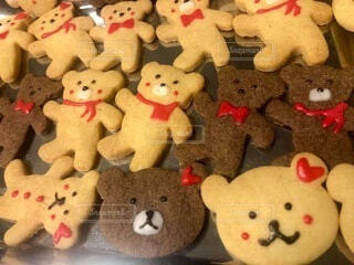 くまさんクッキーの写真・画像素材[4820354]