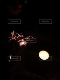 夜,花火,暗い,神秘的,明るい,景観
