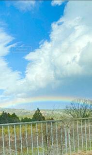 風景,アウトドア,空,雲,虹,雨上がり