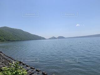 自然,海,空,屋外,湖,ビーチ,雲,水面,山