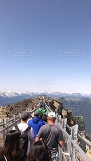 風景,空,屋外,人物,人,カナダ,頂上,ウィスラー