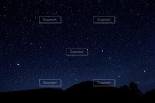 空,夜,夜空,屋外,月,天の川,星座