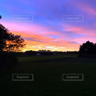 自然,風景,空,屋外,太陽,雲,夕暮れ,草,樹木