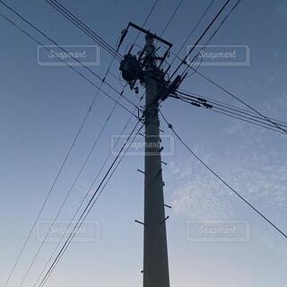 空,屋外,電気,ライン,ポール,電線路,電源供給,公益企業