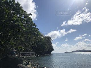 自然,海,空,屋外,ビーチ,雲,島,水面,樹木,小笠原諸島,母島