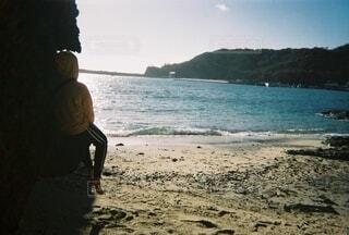 自然,風景,海,空,屋外,ビーチ,島,水面,人物,人,小笠原諸島,母島