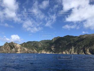 自然,風景,海,空,屋外,雲,島,水面,山,小笠原諸島,母島