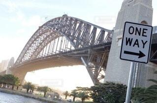 空,建物,夕日,橋,屋外,海外,夕暮れ,川,水面,標識,都会,旅行,旅,オーストラリア,sunset,シドニー,chill,ブリッジ,Sydney,Australia,テキスト