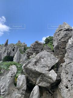 自然,風景,空,屋外,雲,山,岩,石,草木,岩盤,露頭