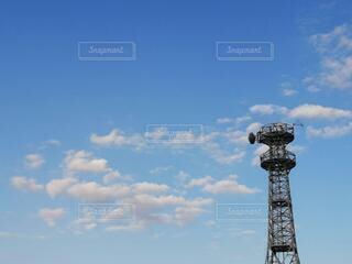 空,夏,屋外,雲,青,鉄塔,日中