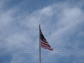 空,屋外,海外,雲,アメリカ,旅行,ノスタルジック,開放的,フラグ,アメリカ合衆国の国旗