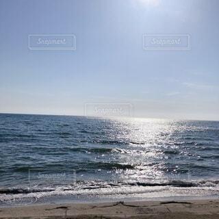 自然,海,空,夏,屋外,太陽,ビーチ,雲,晴れ,晴天,青,水面,海岸