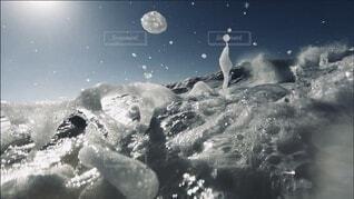 屋外,太陽,光,水中,水玉,泡,アクア