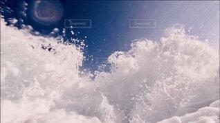 海,空,屋外,雲,波,水面,アクア