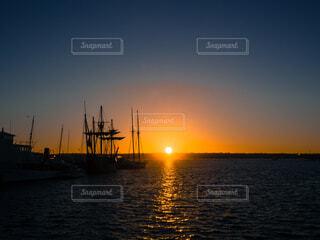 空,屋外,ボート,夕暮れ,船,水面,黄昏
