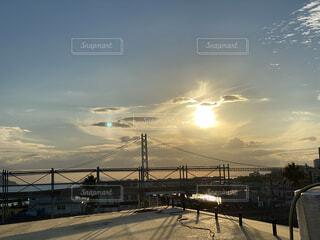風景,空,橋,屋外,太陽,雲