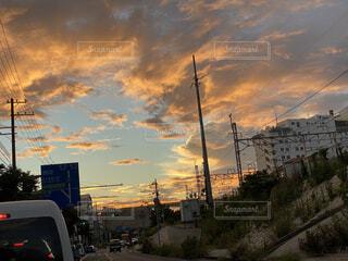 空,屋外,雲,都会,くもり