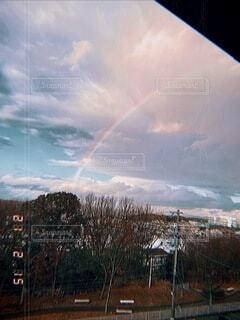 自然,空,虹,雨上がり