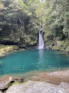 自然,屋外,水面,滝,樹木,岩,高知県,仁淀ブルー