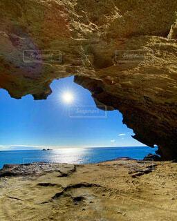 自然,風景,海,絶景,屋外,太陽,波,水面,旅行,快晴,リアス式海岸,鬼ヶ城